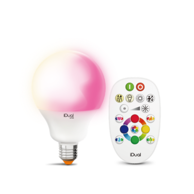 Ampoule E27 led color iDual Blanc Plastique