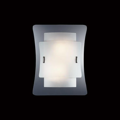 Applique 2 lampes design Ideal lux Triploo Blanc Verre