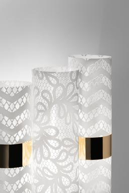 Applique 2 lampes design Slamp La Lollo Lace Technopolymère