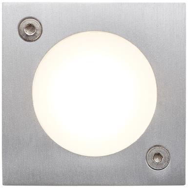 Applique 2 lampes led Brilliant Cubic Gris Aluminium