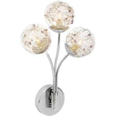 Applique 3 lampes design Brilliant Joya Chrome Acier