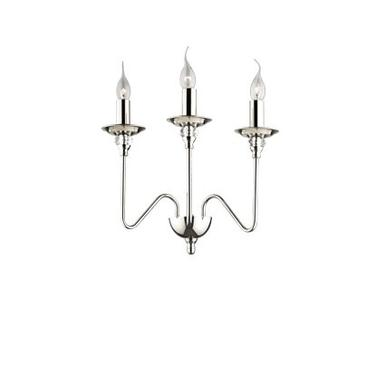 Applique 3 lampes design Ideal lux Artù Chrome Métal