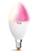 Ampoule E14 Led color iDual Blanc Plastique