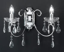 Applique 2 lampes design Wofi Arizona Chrome Métal