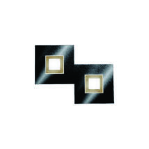 Applique 2 lampes led Grossmann Karree Noir brillant Aluminium