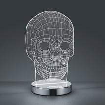 Lampe led Trio Skull Chrome Métal - Verre