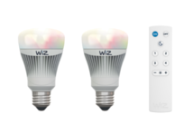 Lot de 2 ampoules E27 led connectée Wiz Blanc Plastique