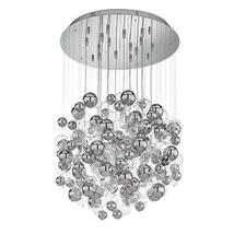 Lustre 14 lampes design Ideal lux Bollicine Chrome Métal