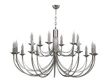 Lustre 18 lampes classique Cvl Chatelet Nickel Nickel Laiton massif
