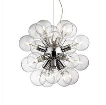Lustre 20 lampes design Ideal lux Dea Chrome Métal