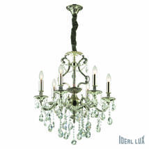 Lustre 6 lampes design Ideal lux Gioconda Gris Métal