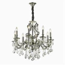 Lustre 8 lampes design Ideal lux Gioconda Gris Métal