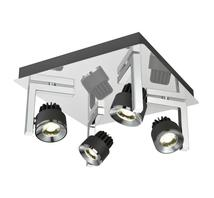Plafonniers 4 lampes led Lo design Graphite Chrome Métal