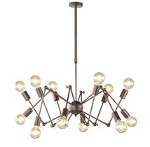 Suspension 12 lampes design Wofi Carmona Antique
