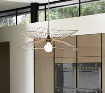 Suspension design Libellule Rose Forestier Libellule Rose Métal